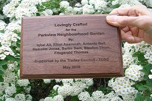 Plaque to be attached to garden cart(001)(001)