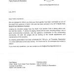 PNG front garden letter
